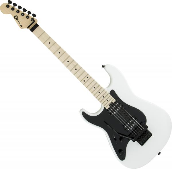 Guitare électrique solid body Charvel Pro-Mod So-Cal Style 1 HH FR M LH Gaucher - Snow white