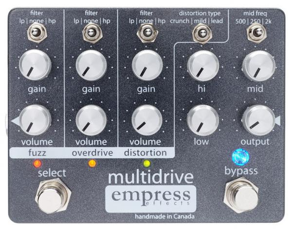 Pédale overdrive / distortion / fuzz Empress Multidrive