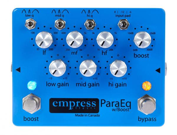 Pédale eq. / enhancer / buffer Empress ParaEQ