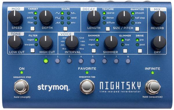 Pédale reverb / delay / echo Strymon Nightsky Reverberator