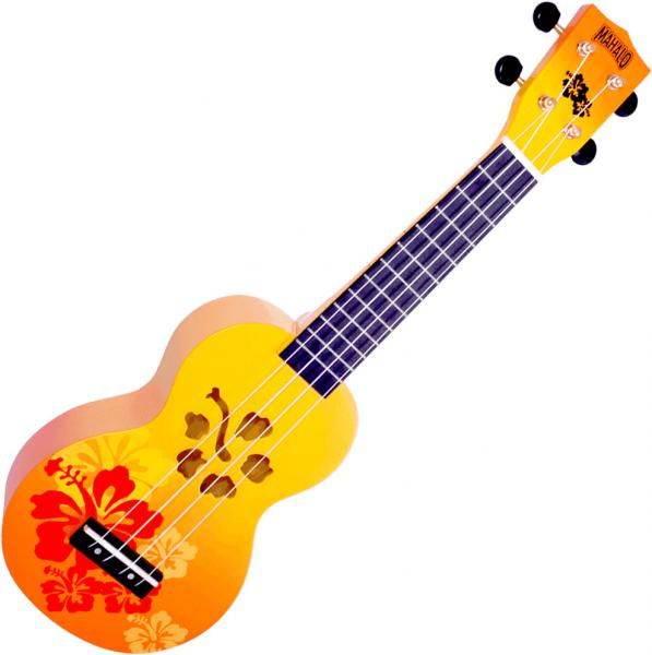 Ukulélé Mahalo Designer MD1HAORB Soprano +Bag - Hawaï orange burst